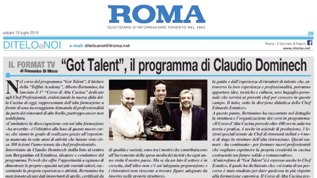 GOT TALENT, il talent show di Claudio