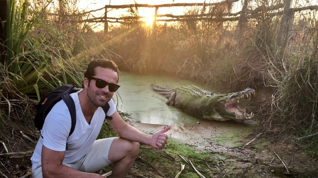 Claudio with Crocodile – TripExperience, coming soon…